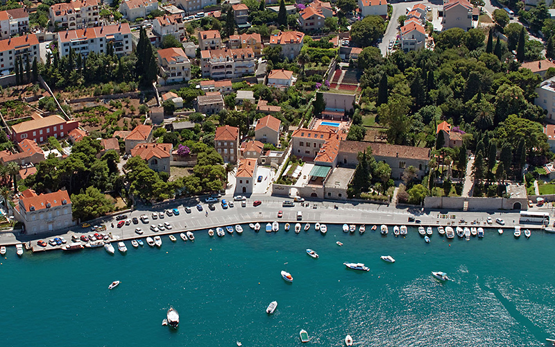 Boutique Hotel Kazbek Dubrovnik view from air