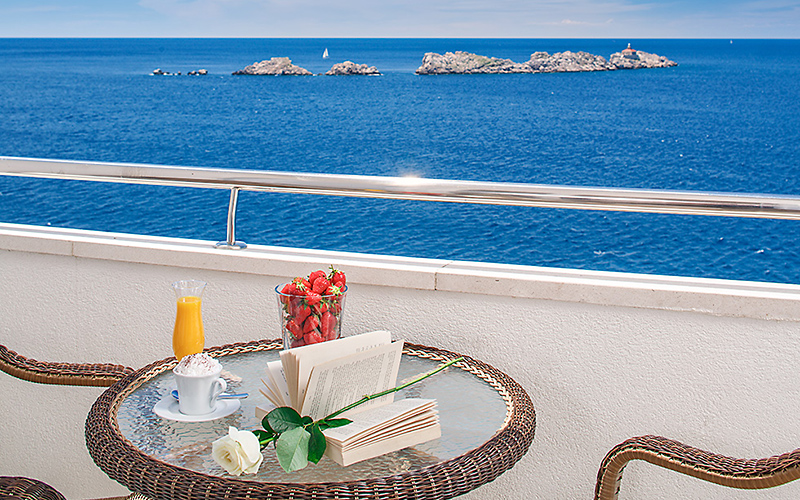Hotel Neptun Dubrovnik sea view, image copyright Importanne Resorts